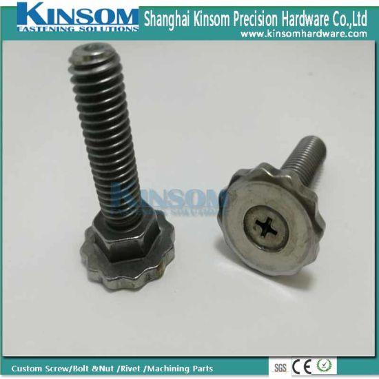 Steel Plain Phillips Knurled Round Head Hexagon Neck Special Bolt