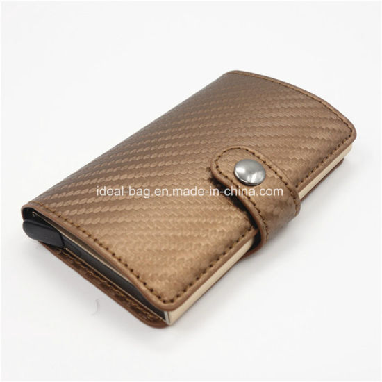 China promotional smart wallet credit card holder travel business promotional smart wallet credit card holder travel business card wallet rfid carbon fiber wallet factory wholesale reheart Choice Image
