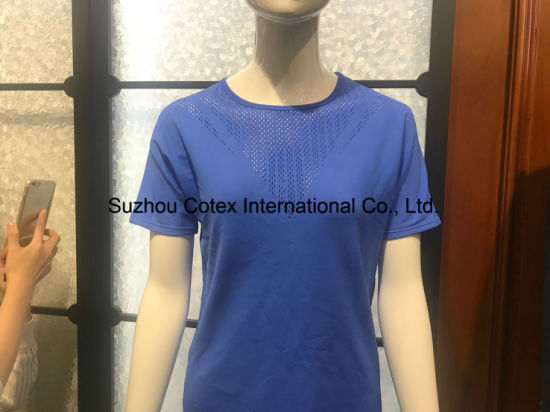Women Body Shaping Lace Molding Sports T-Shirt pictures & photos