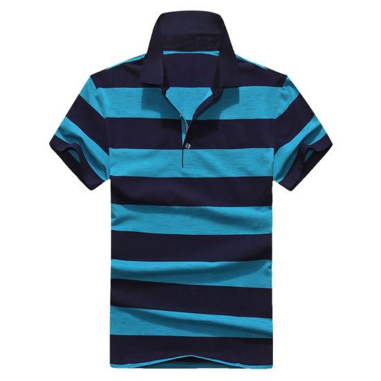 Fashion Stripe Shirt Casual Shirt Casual Polo Shirt for Men