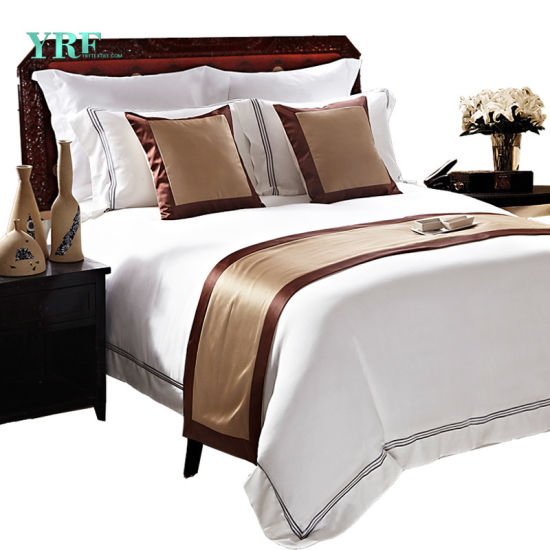 Yrf Hotel Bed Linen Sheet Wholesale White 100% Cotton Bedding Sets