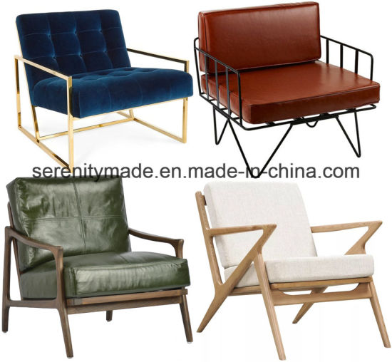 China Furniture Supplier Commercial Furniture Leisure Living Room Armrest Chair  Lounge Chair