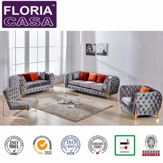 Awesome High Class Home Furniture Leisure Button Tufted Sofa Set Creativecarmelina Interior Chair Design Creativecarmelinacom