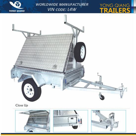 Australia Trailer 7X5 Worldwide Galvanised Box Utility Trailer with Aluminum Tradesmans Top