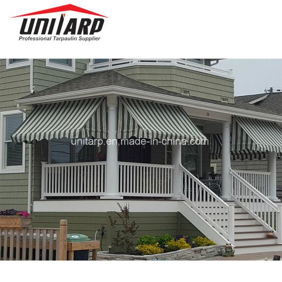 800GSM 1000d*1300d 20*18 Striped Awning Fabric PVC Tarpaulin
