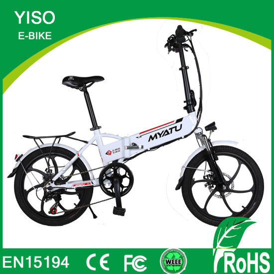 20 Inch RoHS Mini Folding Electric Bike/Hidden Battery500W Lithium Battery Motor E Bike