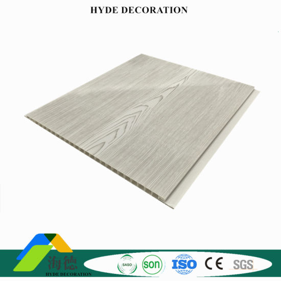 China Middle Groove Pvc Wall Panel Ceiling Tiles Wood