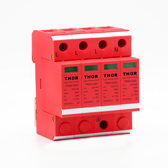 Power Surge Protection Device 20ka Surge Arrester Lightning Surge Protector pictures & photos