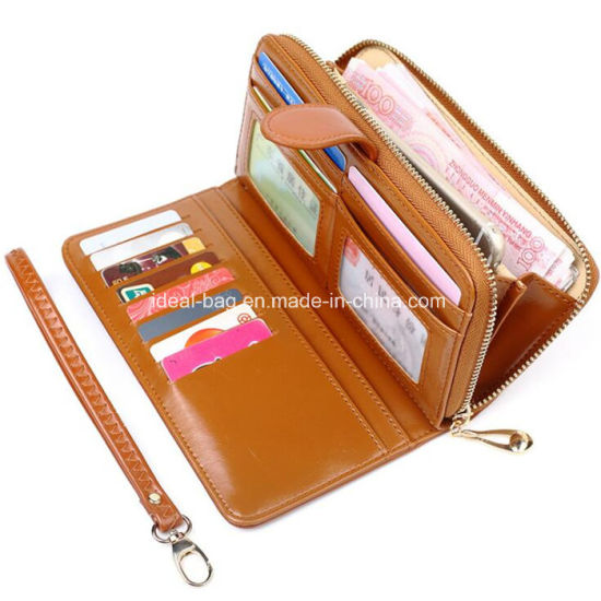 1412cf642936 Promotional Small MOQ PU Leather Ladies Zipper Wallet Credit Card Holder  Coin Wallet Women Fashion Designer Travel Puse Ticket Wrist Wallet