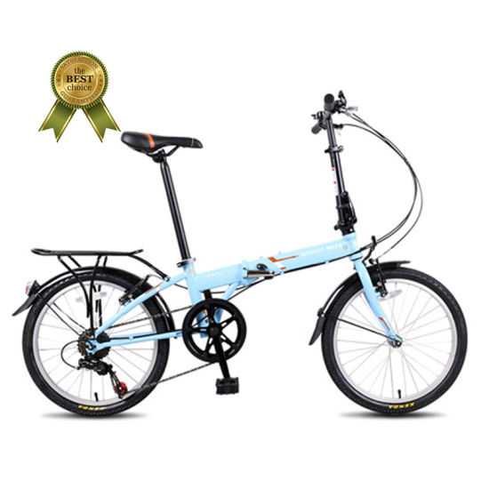 High Quality China Factroy 20 Inch Popular 7 Speed Folding Bicycle Mini Foldable Bike with V-Brake
