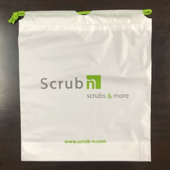 Printed Drawstring Plastic Bags for Packing Hf1307