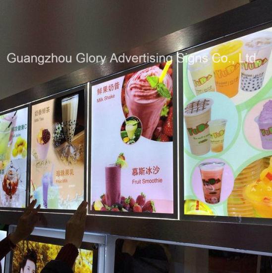 China Wall Mounted Restaurant Light LED Menu Board - China