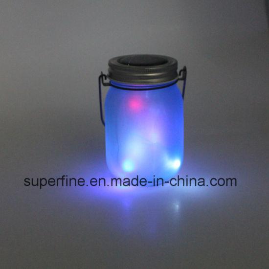 Solar Firefly Mason Jar Light With Flickering