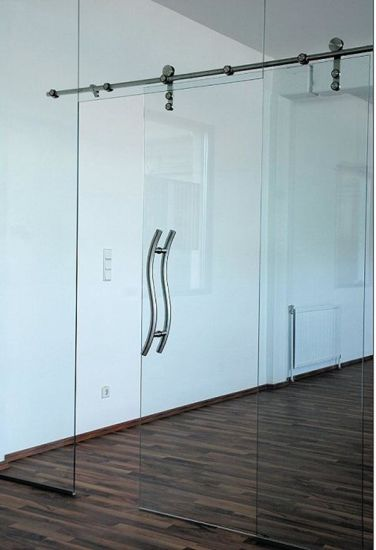 China Stainless Steel 304 Tempered Glass Door Price Sliding Glass