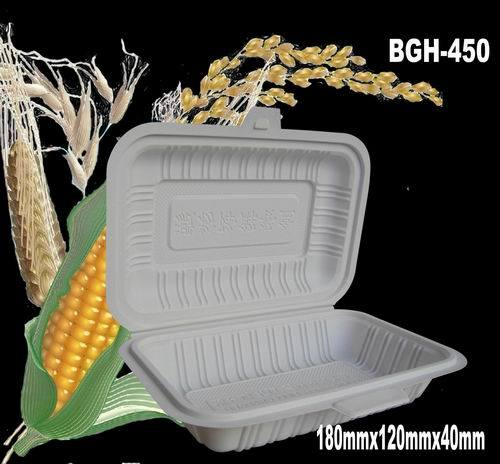 Dispostable Corn Starch Eco-Friendly Package Box (BGH-450)