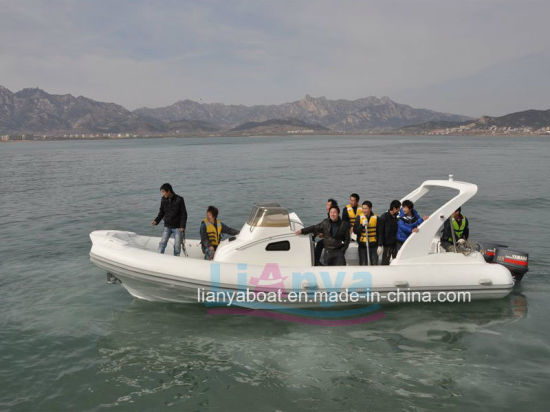 China Liya 8 3m Luxury Rigid Inflatable Boat Rib Boat Cheap