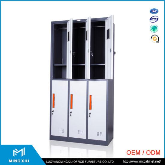 China Mingxiu High Quality Metal Locker Style Storage Cabinet / 6 Door  Cabinet Locker