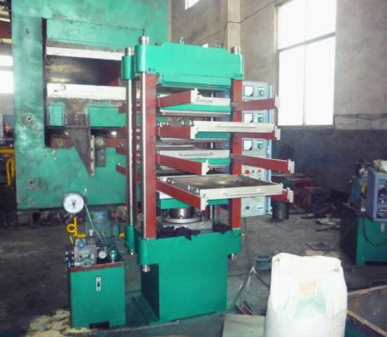 Hydraulic Rubber Ground Tile Press / Rubber Mat Vulcanizer/Rubber Bricks Making Machine pictures & photos