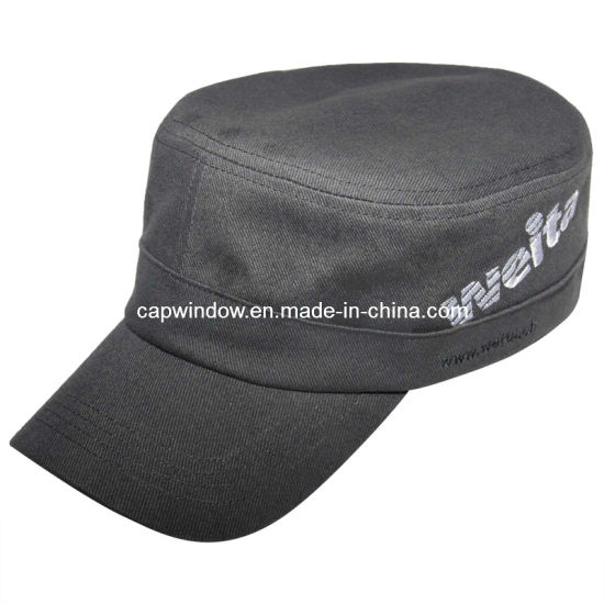 ea21cea0 China Black Cotton Military Hat / Army Cap for Men - China Army Cap ...