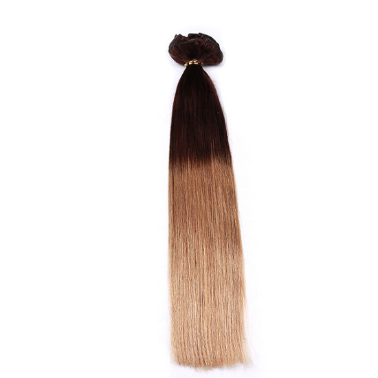 Factory Wholesale Price No Tangle Shedding Free Peruvian Hair Long Curly 150g 120g Triple Weft Clip in Hair Extension pictures & photos