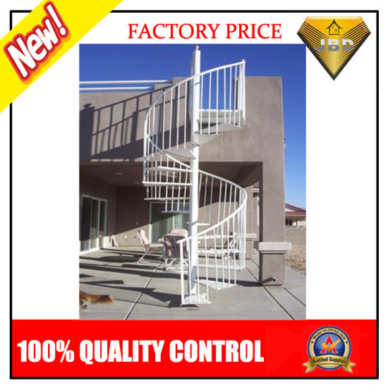 Prefabricated Wood Tread Spiral Staircase (JBD S9)