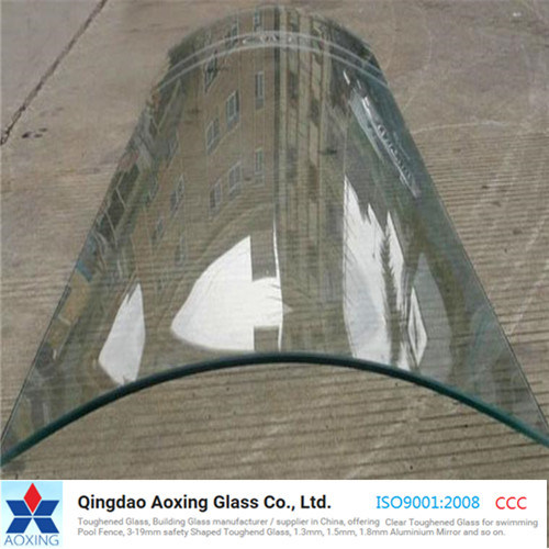 Clear Curved Float Glass for Building/Construction