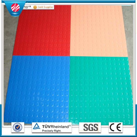 with flooring pin in stall home securing foam mats a garage working floors gym rubber