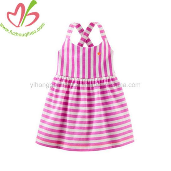 Hot Selling Summer Baby Girls Stripe Dress Pink/Green/Blue