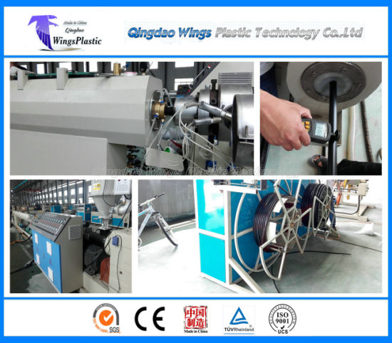 China PE Pipe Extrusion Line Sj65, HDPE Pipe Machinery Factory pictures & photos