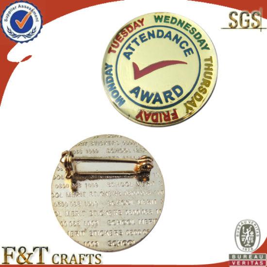 High Quality Custom Round Shape Metal Badge (FTBG017J)