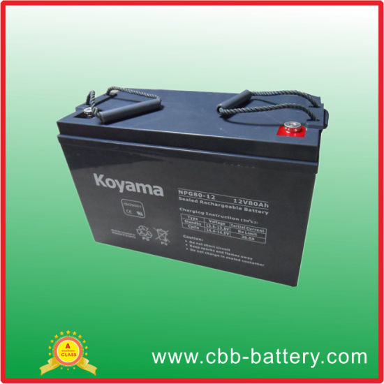 High Quality European Electric Boat Battery 80ah 12V Npg80-12 pictures & photos