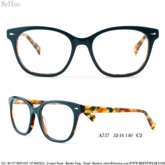 China American Market Eye Women Acetate Optical Frame - China ...