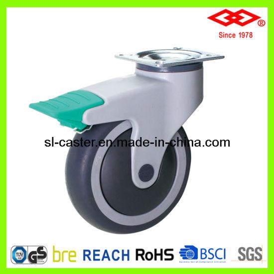 Swivel Plate Locking Medical Castor Wheel (P503-39E125X32CIS)