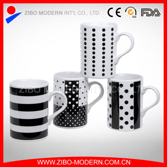 White Cylinder Shape Coffee Mug with Imprint pictures & photos