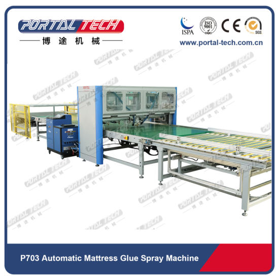Ce/ISO Full Automatic Hot Melt Glue Spray Machine for Mattress/Bedding Production