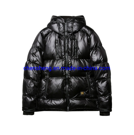 Stock Cheap Men's Clothes Hoodie Goose Feather Thickened Down Jacket Winter Coat