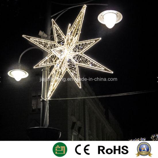 led motif light 3d stars light christmas star shape light