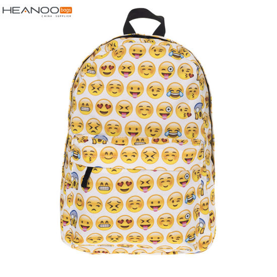 845934f473 Funny Desin School Bag Cute QQ Emoji Backpack for Student Teens. Get Latest  Price