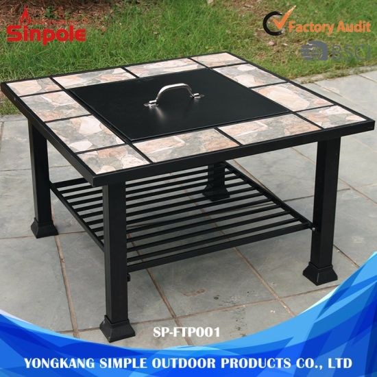 Fire Pit Table Easy Cleaning Camping Bbq Grill