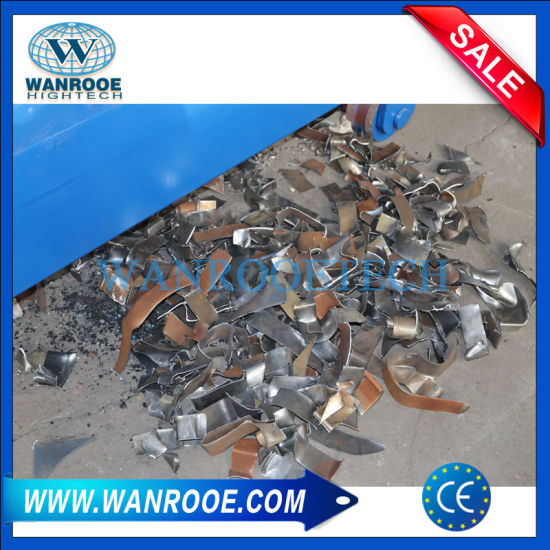 China Double Shaft Waste Cardboard Paper Tire Metal Scrap Wood Lump