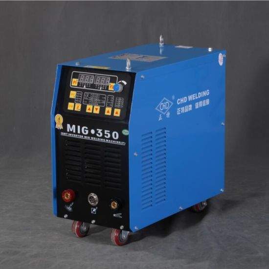 IGBT inverter double pulsed MIG/MAG/CO2 flux cored welder with wire feeder MIG-350P/500P