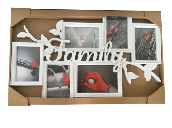 China Plastic Home Decoration Craft Photo Collage Multi Frame 4-4X6 ...