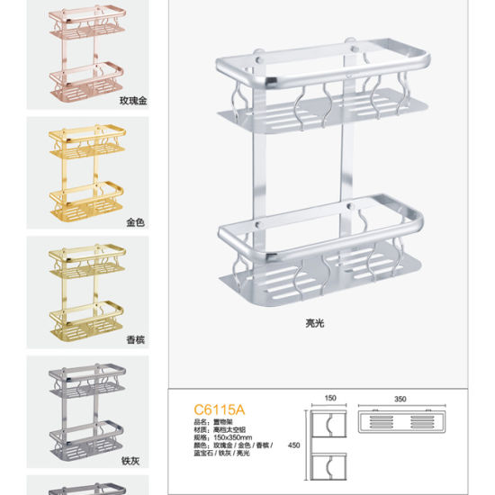 Pretty Price Modern Por Bathroom Accessory Storage Rack C6305