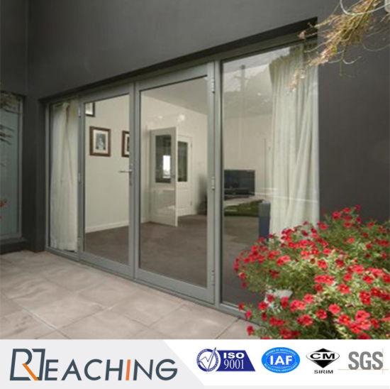 China Shining Aluminium Hinged Door Swing Open With High End Glass