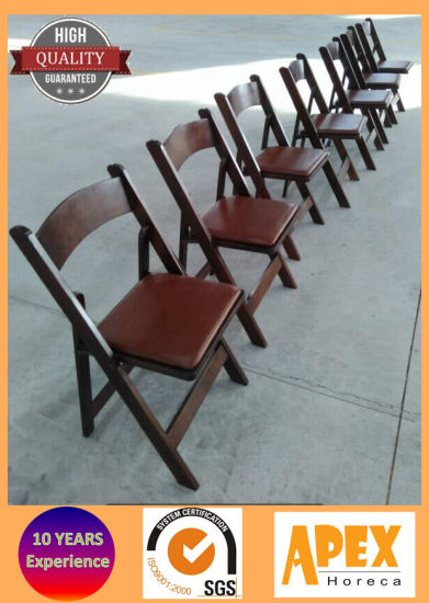 Wedding Folding Chair Foldable Wood Chair Catering Event Furniture