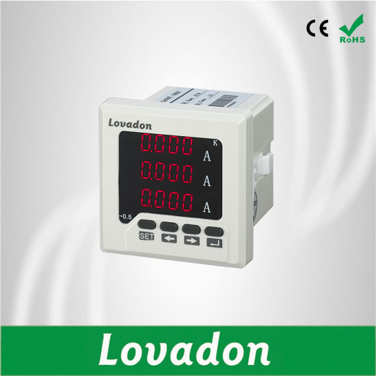 Lst72-3A Digital Electrical Meter 72*72mm Three Phase Current Meter pictures & photos