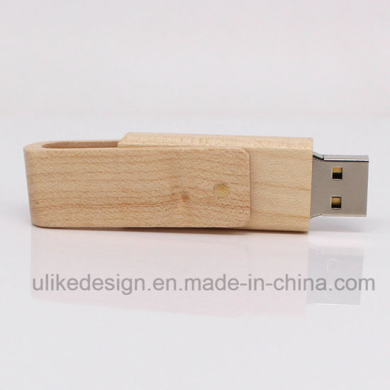 Promotional OEM Wooden Customized Logo 4GB USB Flash Driver 2.0 pictures & photos