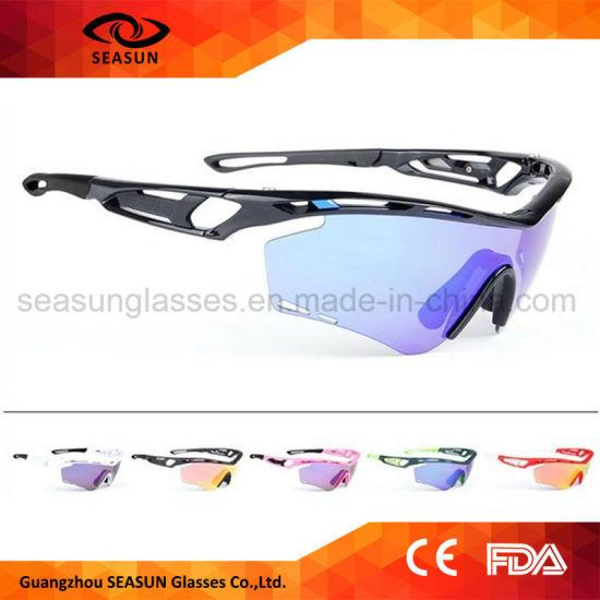 c7e3b558f47 Factory Dropshipping Blue Coating Anti UV High Vision Men Sun Glasses  Cycling Sport Sunglasses