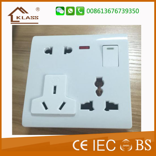 OEM/ODM UK Wall 13A Socket with Dual USB Charger pictures & photos