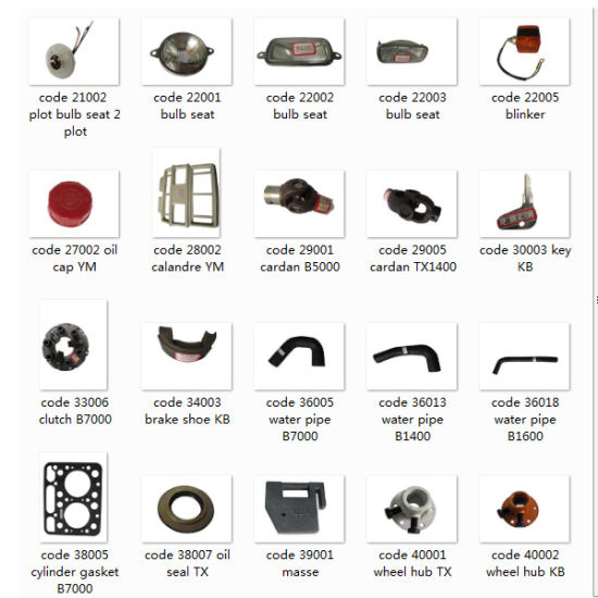 Iseki Tractor Parts, Cardan, Pto Shaft, Clutch, Water Pipe